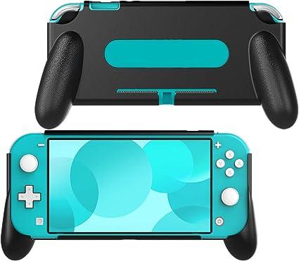 MoKo Funda con Asa Compatible con Nintendo Switch Lite, Accesorio de Mango Rellenos Integrados de Diseño Ergonómico ...