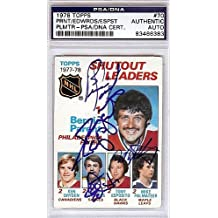 Bernie Parent Don Edwards Tony Esposito and Mike Palmateer Signed 1978 Topps Trading Card #70 - PSA/DNA Authentication - NHL Hockey Cards