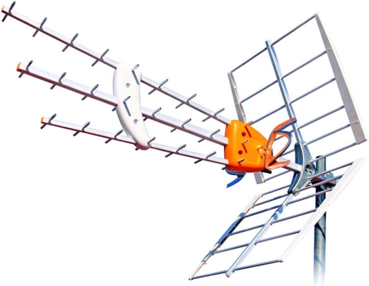 Kit Antena TELEVES Boss 790 HD con Filtro LTE Y PREVIO MRD Inteligente + Rollo 20 MT Cable Y Conectores …
