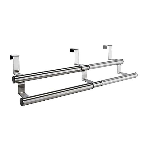 Handtuchhalter Küche ausziehbar 25-40cm Edelstahl 2Stangen ...