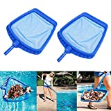 2PCS/set Heavy Duty Swimming Pool Leaf Skimmer Net with Handle Rake Leaf Mesh Skimmer Cleaner Swimming Pool Spa Tool - 16.5 by 15.7 Inch Gessppo