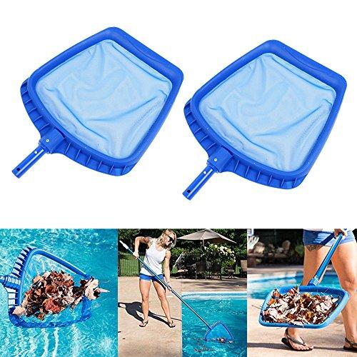 2PCS/set Heavy Duty Swimming Pool Leaf Skimmer Net with Handle Rake Leaf Mesh Skimmer Cleaner Swimming Pool Spa Tool - 16.5 by 15.7 Inch Gessppo by Gessppo_Sports & Fitness