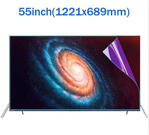 u&h Protectores De Pantalla De TV 55 Pulgadas, Luz Antiazul Luz Antirreflejos PVC para LCD, LED Y Plasma HDTV Televisor,Transparent: Amazon.es: Hogar