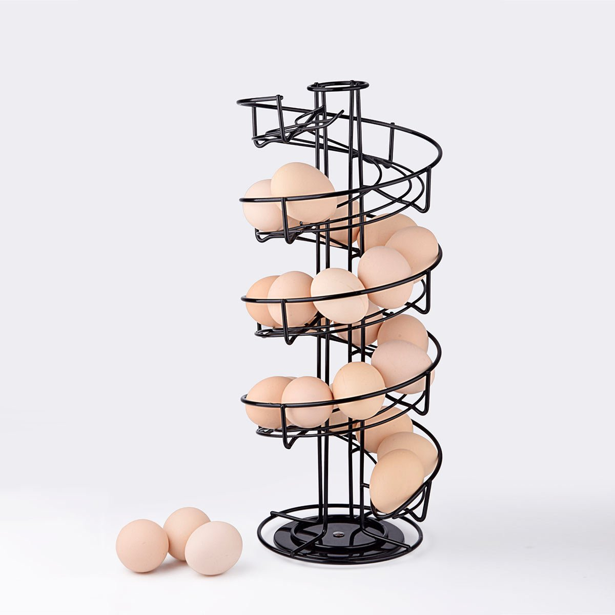 dise/ño en espiral /Soporte dispensador de huevos TopLife
