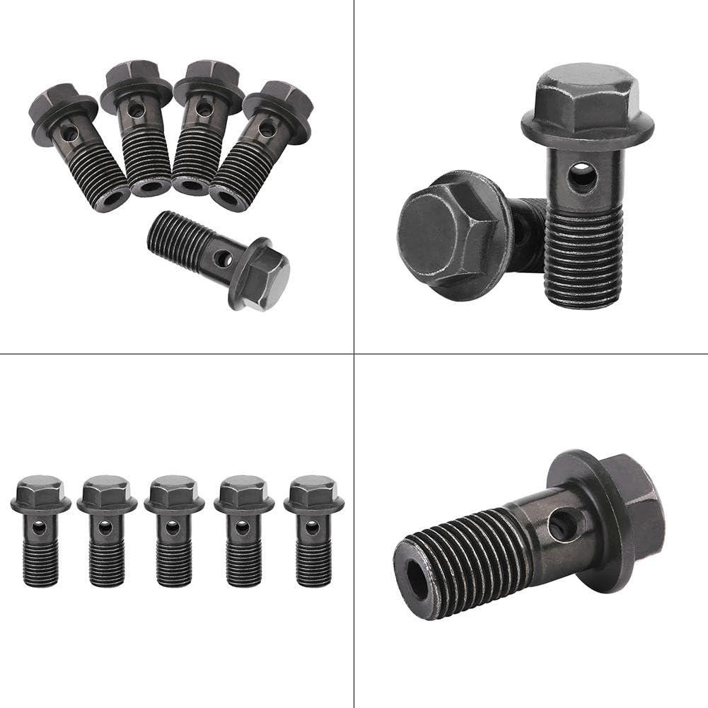 1.0mm M10/×1mm Hohlschrauben Und Beschl/äge Keenso 5er Motorrad Hohlschrauben /& Unterlegscheiben f/ür Bremssattel Hauptbremszylinder M10 x1.25//M10