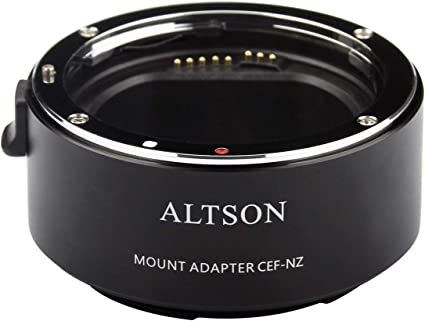 EWOOP CEF-NZ Altson Adattatore intelligente per autofocus con apertura elettronica integrata per obiettivi Canon EF su fotocamere mirrorless NIKON Z Z6 Z7