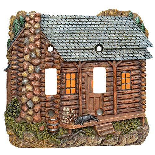 BLACK FOREST DECOR Tranquil Cabin Double Switch Cover