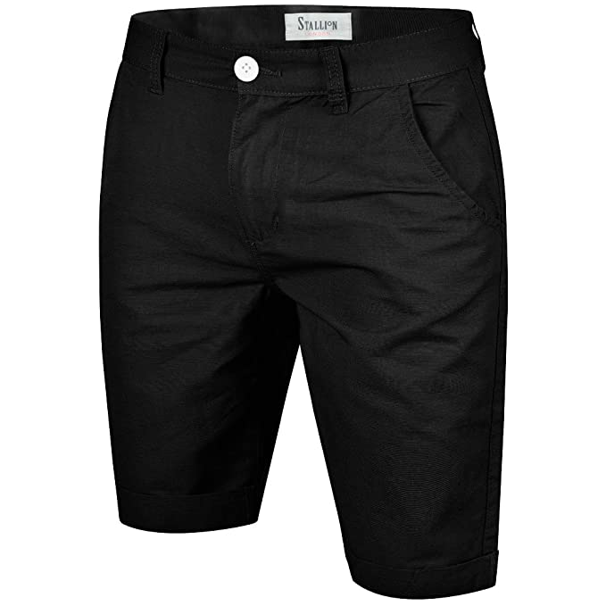 Mens Combat Cargo Shorts Stretch Washed Cotton Smart Casual Work Chino Half Pant