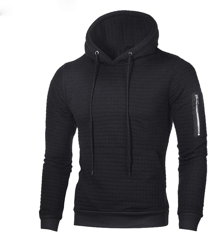 disiren Spring Autumn Mens Hoodies Casual Solid Long Sleeve Hooded Coats Male Tracksuit Sweatshirt