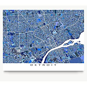Amazoncom Historical Streetcar City Map Detroit Michigan - Detroit usa map