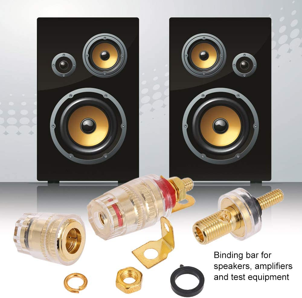 Festnight 4mm Banana Plug Black /& Red Connection Terminal Speaker Connector Amplifier Binding Post