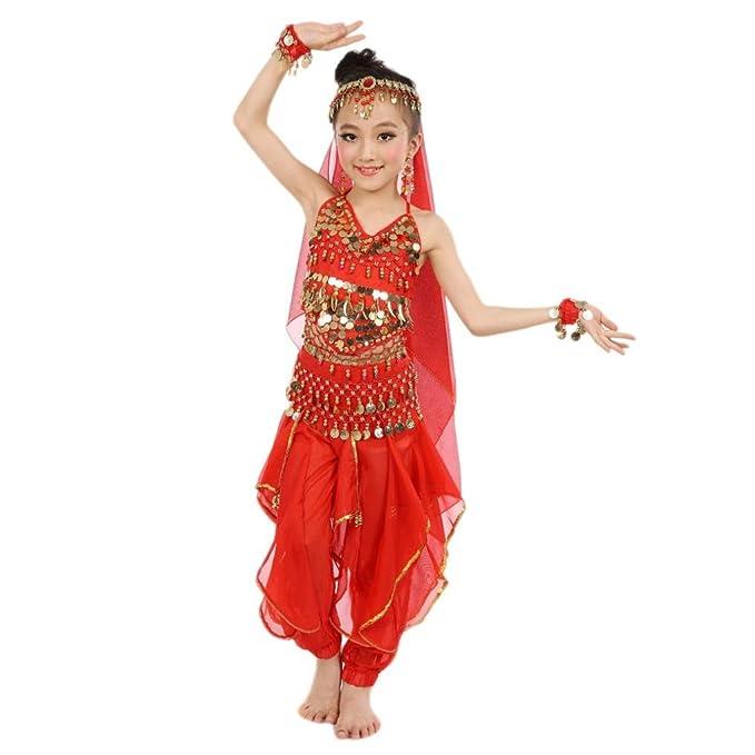 FEITONG Hecho a Mano Niña niña Danza del Vientre Disfraces Niños ...