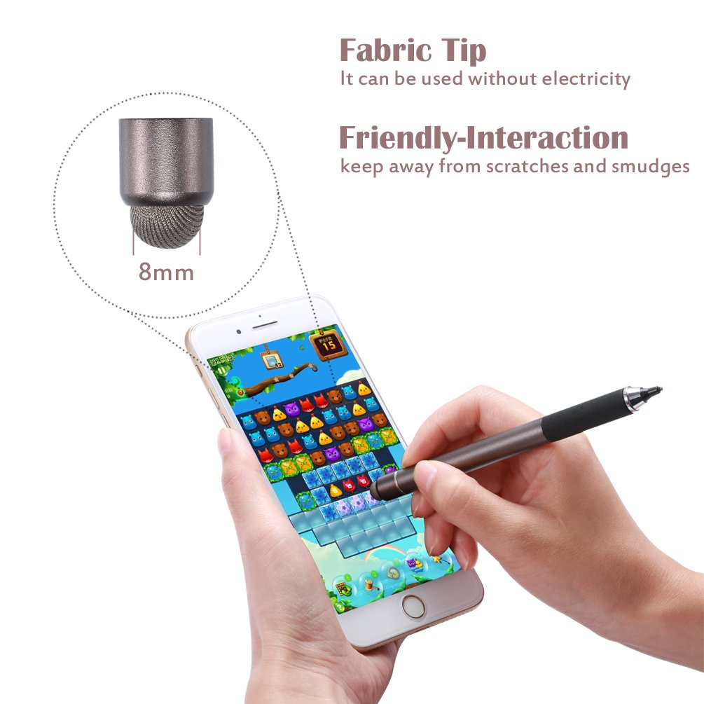 Active Stylus Pen, TEOYALL Rechargeable 1.8mm Fine Point Copper Tip Capacitive Digital Stylus Pen for iPhone, iPad pro, Samsung, Tablets, Android and other Capacitive Touch Screen Devices (Bronze) by TEOYALL (Image #3)
