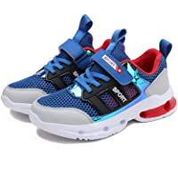 Yong Ding Kids Running Shoes Lightweight Breathable Mesh Sports Shoes with Hook and Loop Closure Suitable for Exercise 11US(Child) Blue