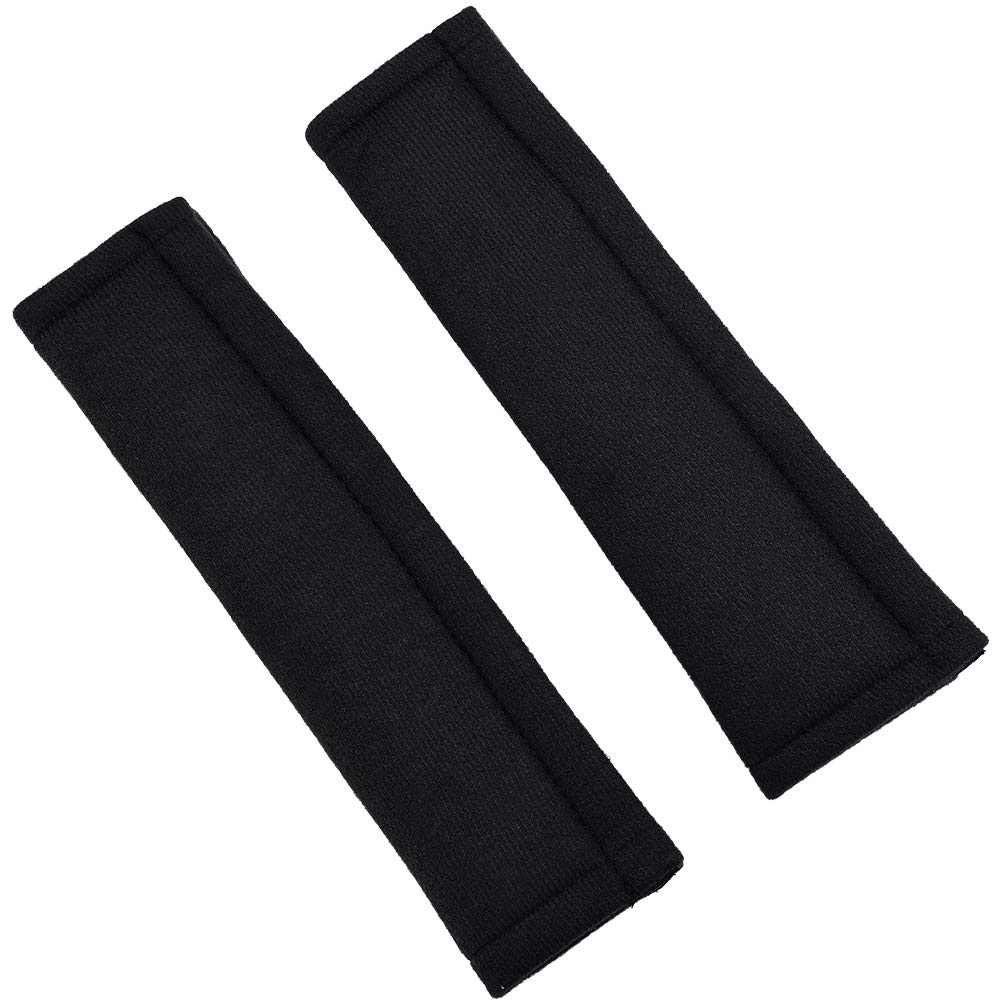2 Pcs COMFORT Seatbelt Strap Cover, Car seat belt Cushion Pad with Hook and Loop straps, Black