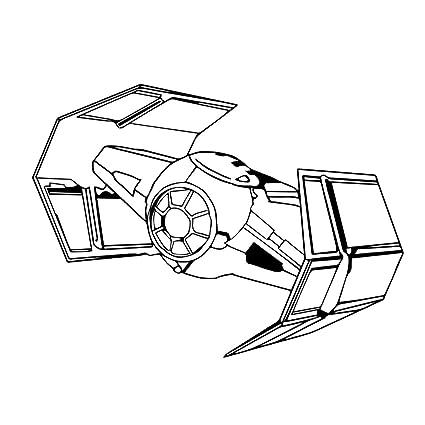 Amazon Com Darth Vader Tie Fighter 6 Vinyl Sticker Car Decal 6