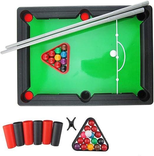 BESTOYARD Juego de bolas de billar mini para niños Juego de billar americano Mesa de billar Mini juegos de mesa Regalo para niños: Amazon.es: Juguetes y juegos
