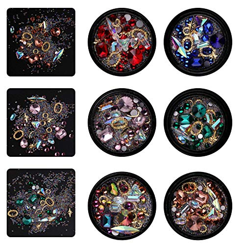- Limo 3D Nail Art Rhinestones Glitter Decorations Diamonds,Glitter Nail Jewels, Nail Crystals Beads Gems for DIY Nail Art Kit Decor Colored Rhinestones Decoration