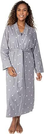 Cyberjammies Nora Rose Juliette 1508 Women's Grey Floral Cotton Robe