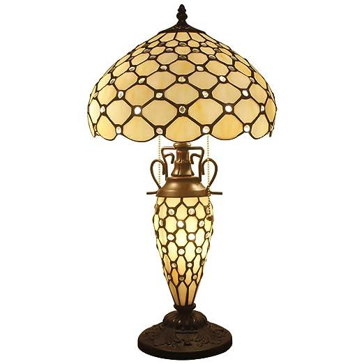 Amazon.com: S16P estilo Tiffany lámpara de techo con tulipa ...