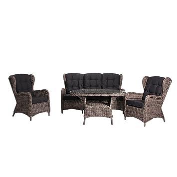 Outliv Dining Lounge Argos Loungemöbel 4 Tlg Polyrattan Essgruppe