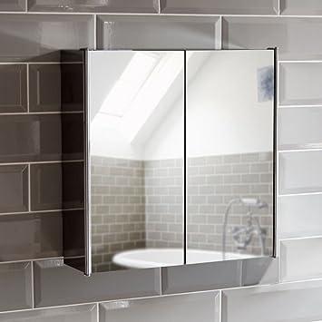 Home Discount Tiano Badezimmer-Schrank mit Spiegel, Wandmontage, aus ...