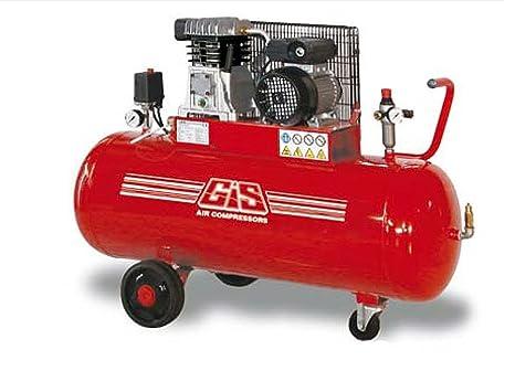 GS12/100/250/Car/M elettrocompressore Gis Compresor bicilindro Transmisión Correa 2