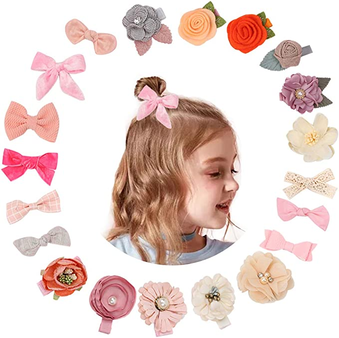 Assorted Hair Accessories Alligator Clip for Little Girls Toddler Kids Teens Baby Girl Hair Bow Clips Flowers Barrettes