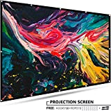 120 inch Projector Screen Portable - EleTab 16:9 HD Outdoor Indoor Projector Movies Screen Foldable Anti-Crease for Home Theater Support Front and Rear Projection