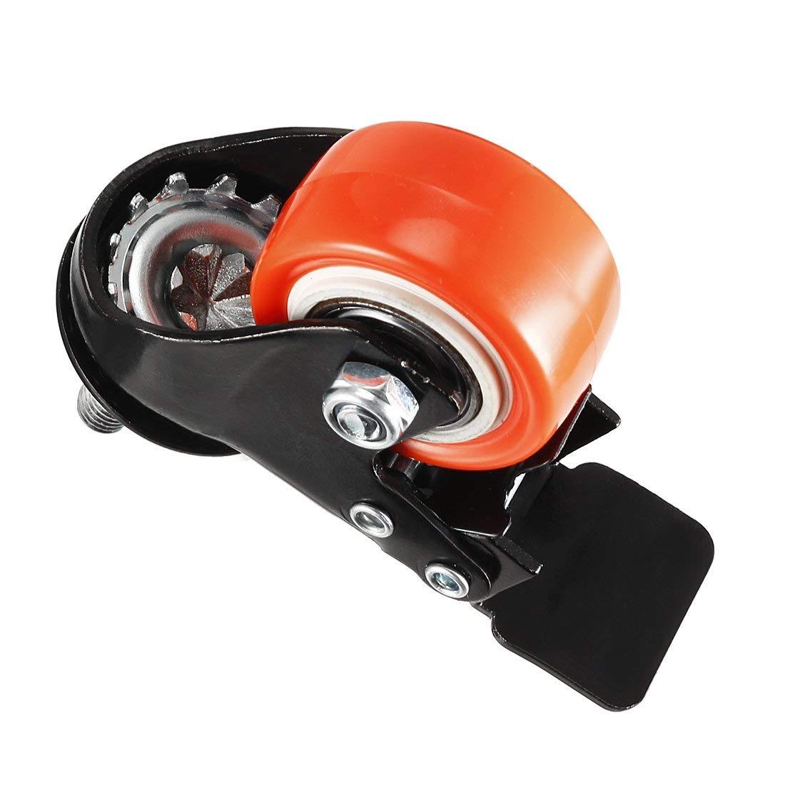 ZCHXD 1.5 Inch Swivel Caster Wheels PU 360 Degree Threaded Stem ...