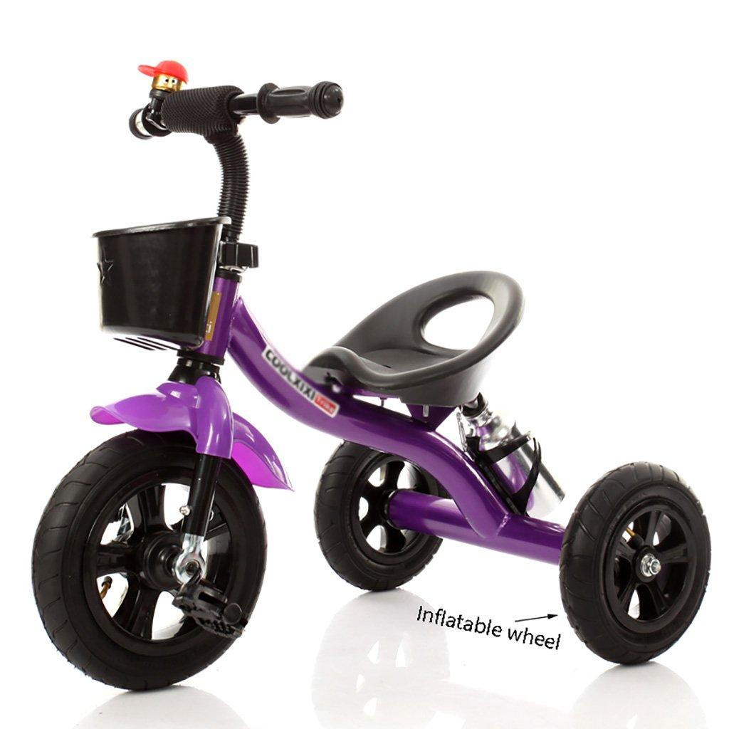 子供用トライク、三輪車の乗り物バイク、赤ちゃんの滑り自転車、おもちゃの自転車、自転車の子供、フットペダルの3つの車輪 (色 : B) B07CZF1VL1 B B