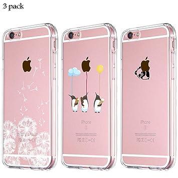 3 Pack] Funda iPhone 6 Funda iPhone 6S Funda de Silicona