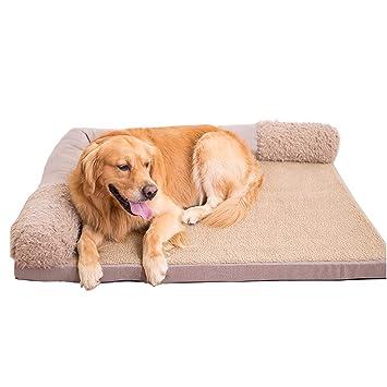 Cama de perro Gris, Tela, Gruesa y Suave, Cama ortopédica para Perros, para Perros Grandes, medianos y pequeños (Tamaño : 100×80×17cm): Amazon.es: Hogar