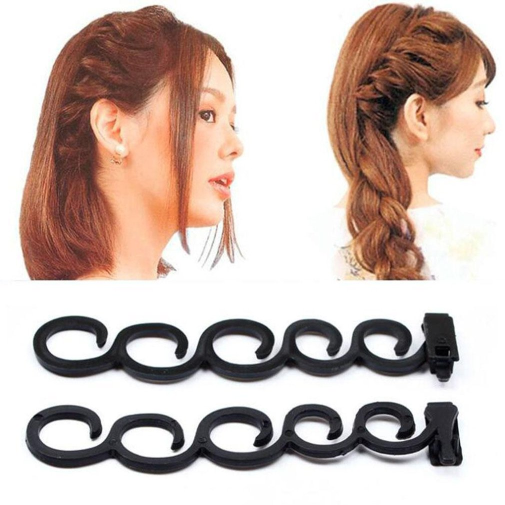 HENGSONG Fashion Hair Braiding Tool DIY Magic Hair Twist Styling Accessories (Black) mei_mei9