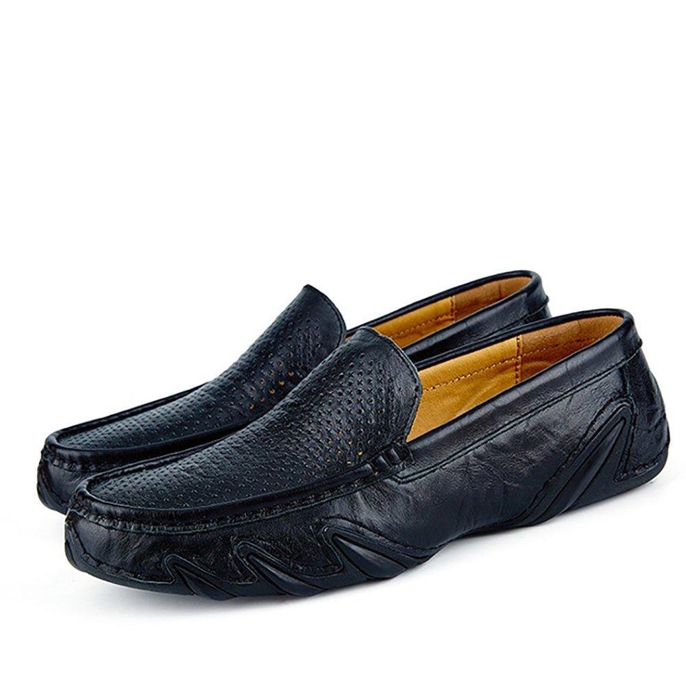 Sandalias de Cuero de Diseño de Recorte Sandalias de Cuero de Verano Negocio de Caballero Respire libremente (Color : Negro, Tamaño : 40) 40|Negro