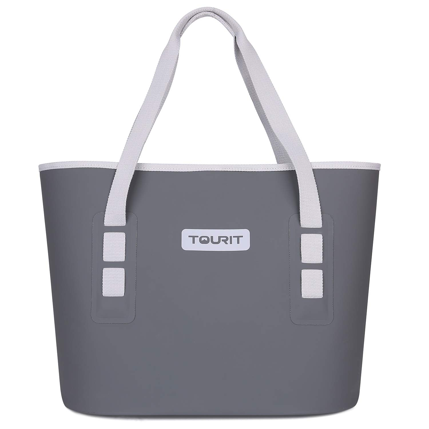 TOURIT Carryall Soft Cooler Leak-Proof All-Purpose Soft Sided Cooler Beach Tote Bag Durable Waterproof for Fishing Camping Sports Picnics Sea Fishing Road Beach Trip Grey