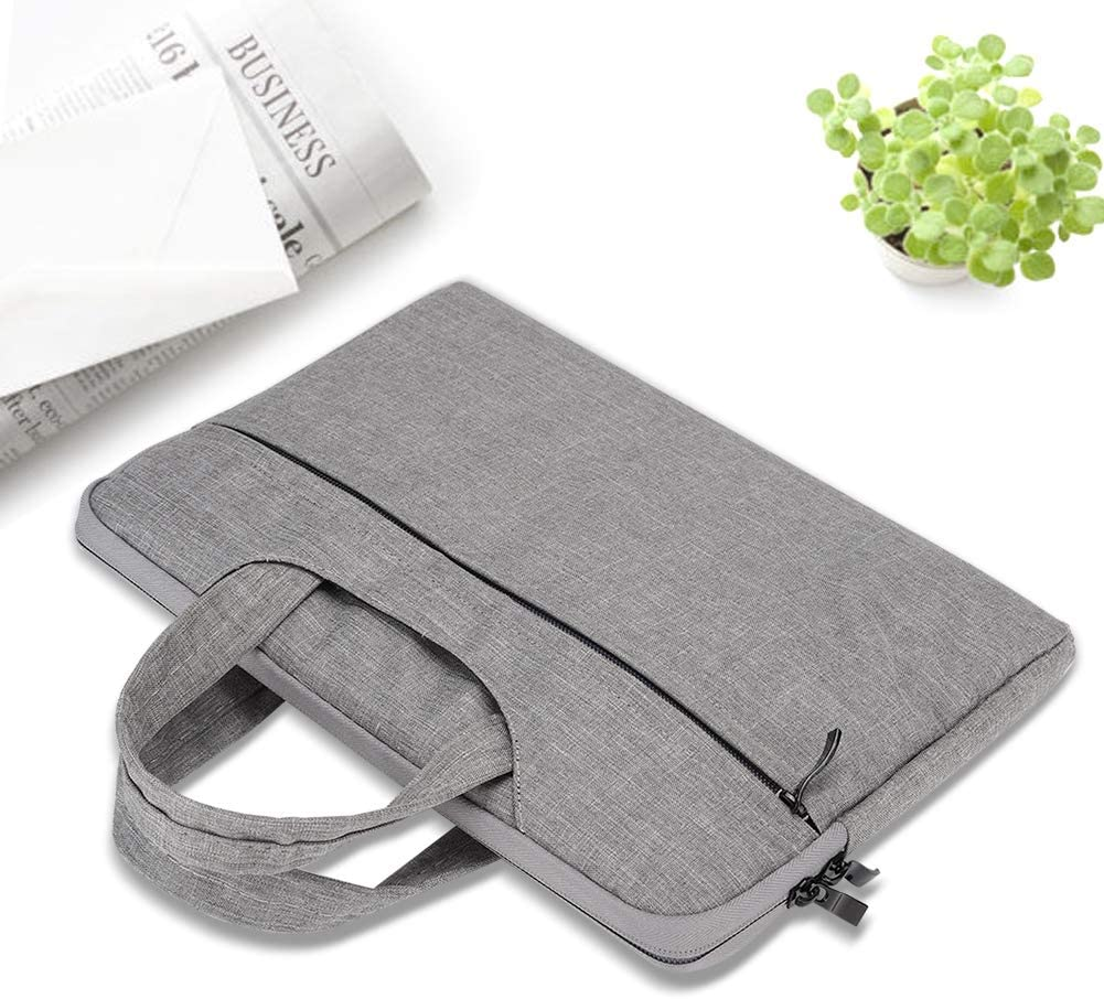Wendry Tablet Bag for 11-Inch Computer Portable Hand-Held Business Computer Bag Nylon Waterproof Shockproof Computer Bag Portable Hand-Held Design Tablet Bag Gray