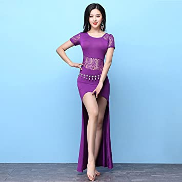 Wanson Professional Lady Belly Dance Costumes Indian Dance Dress Exercise Clothes Dance Competition Performance Dress,