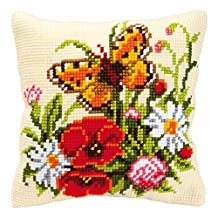 Cross Stitch Cushion: Butterfly by Vervaco