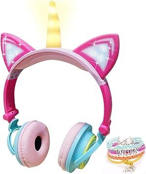 Led Einhorn Kinder Kopfhörer Faltbarer Kabelgebundener Elektronik