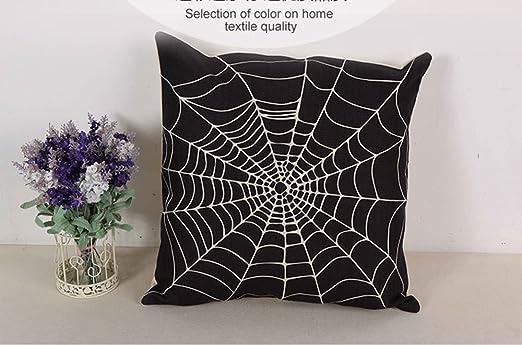 Impresionante vivos mejor Beige Negro Spider Web impresión ...