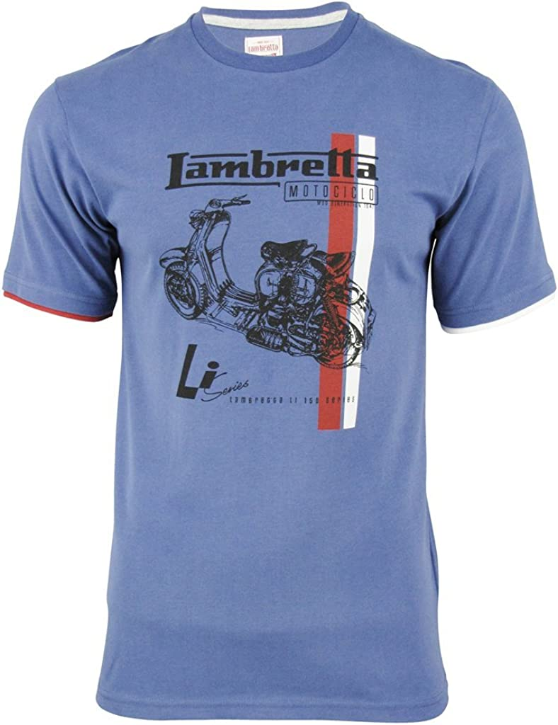 Lambretta - Camiseta - para hombre azul Fuerza Aerea XXX-Large: Amazon.es: Ropa y accesorios