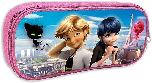 XCLONG Miraculous Love Ladybug - Estuche de Lona para lápices de Gran Capacidad, para Oficina, Escuela, Colegio, para niños y niñas: Amazon.es: Hogar