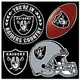 NFL Oakland Raiders Unisex NFL 4Piece Magnet Set, Black, One Size