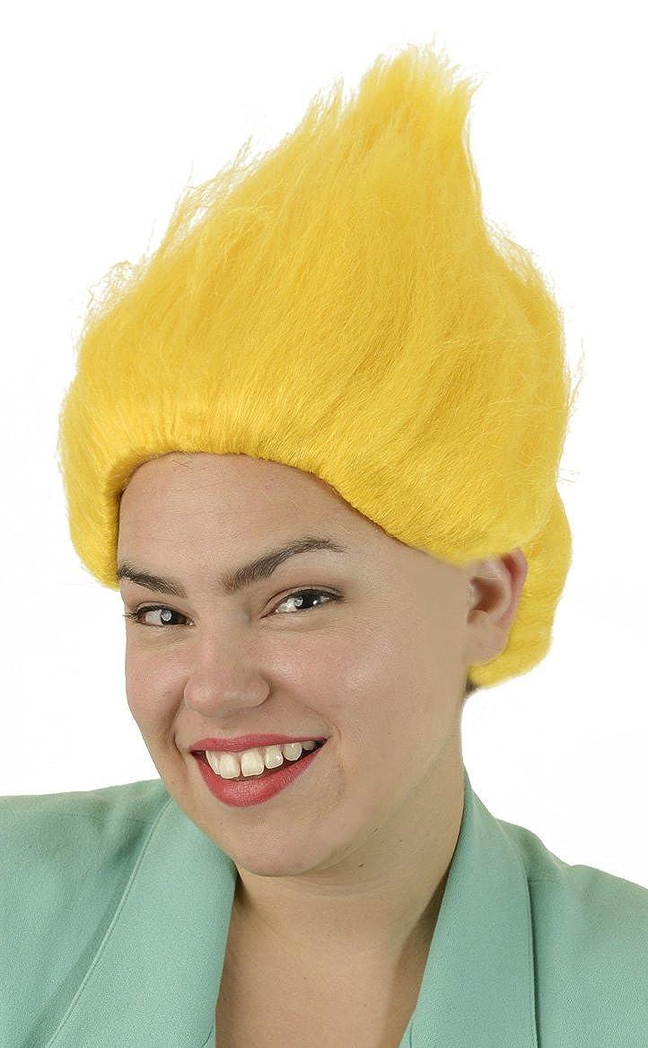 Yellow Troll Wig | Unisex Troll Doll Costume