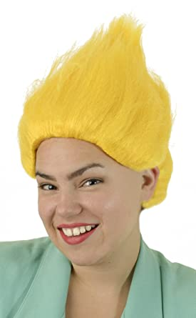 Yellow Troll Wig | Unisex Troll Doll Costume