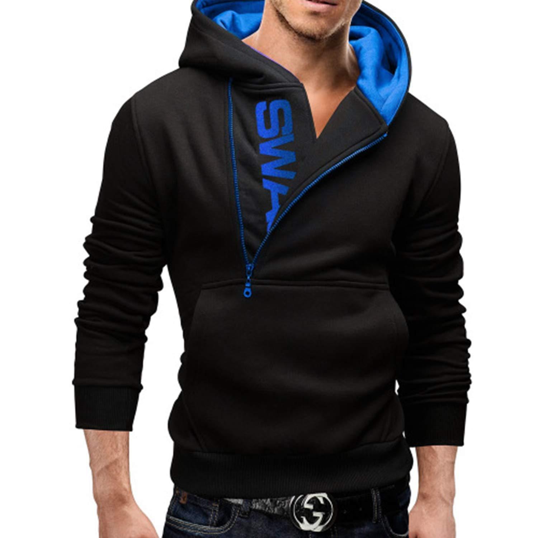 Men Hoodies Street Wear Diagonal Zipper Slim Fashion Sweatshirt Mens Tracksuit Men Assassins Creed Hoodies M-3Xl