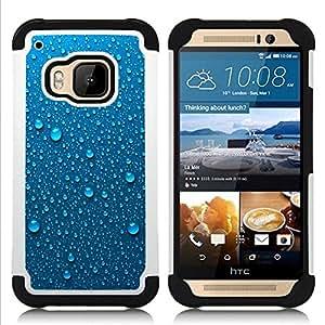 """Pulsar ( Rocío Gotas De Agua Gotas Lluvia de metal"""" ) HTC One M9 /M9s / One Hima híbrida Heavy Duty Impact pesado deber de protección a los choques caso Carcasa de parachoques"""