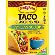 Old El Paso Taco 25% Less Sodium Seasoning Mix 1 oz Packet