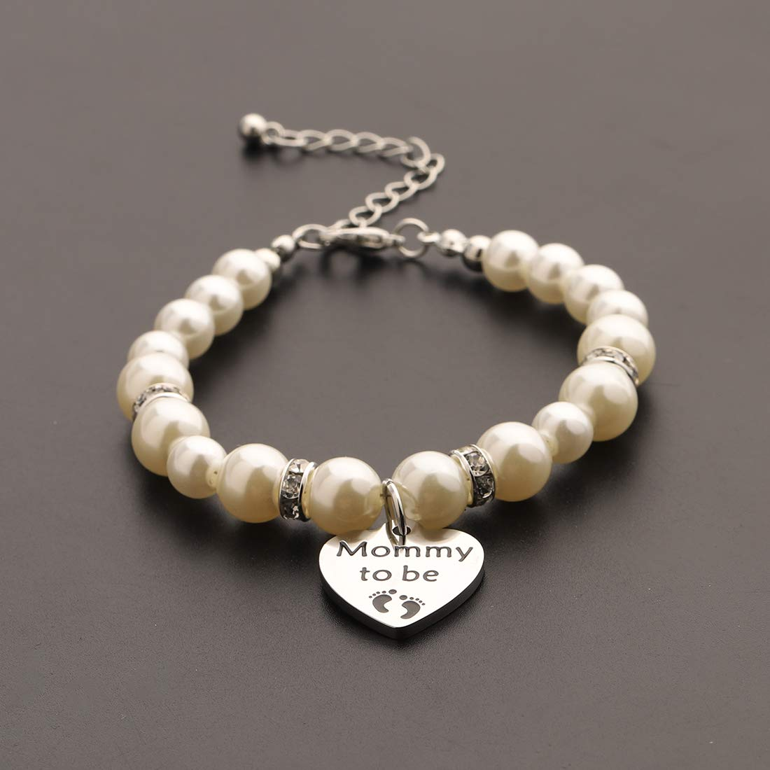 CHOROY Mommy to Be Bracelet Expectant Mother Bracelet New Mom Gift Pregnancy Announcement Gift for Mother-to-be